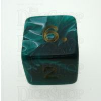 D&G Marble Green & White D6 Dice