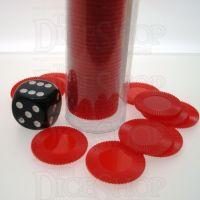 Koplow Casino Stacking Poker Chips Red x 50