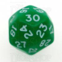D&G Opaque Green JUMBO 28mm D30 Dice