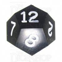 GameScience Opaque Coal Black & White Ink D12 Dice