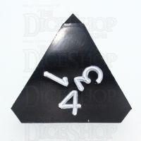 GameScience Opaque Coal Black & White Ink D4 Dice