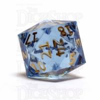GameScience Gem Ice Blue Moonstone & Gold Ink D24 Dice