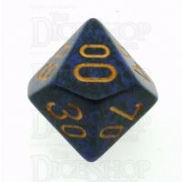 Chessex Speckled Golden Cobalt Percentile Dice