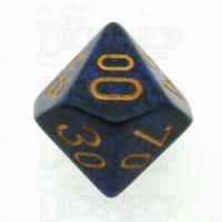 Chessex Speckled Golden Cobalt Percentile Dice
