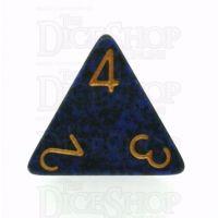 Chessex Speckled Golden Cobalt D4 Dice