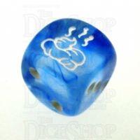 Chessex Nebula Dark Blue SHIT Logo D6 Spot Dice