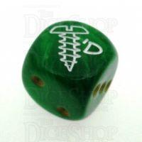 Chessex Vortex Green SCREWED Logo D6 Spot Dice