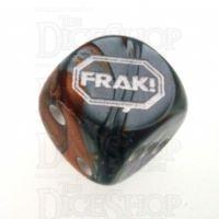 Chessex Gemini Copper & Steel FRAK! Logo D6 Spot Dice