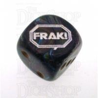 Chessex Lustrous Shadow FRAK! Logo D6 Spot Dice