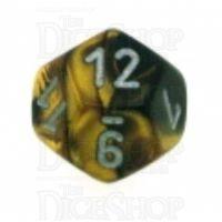 Chessex Gemini Black & Gold D12 Dice