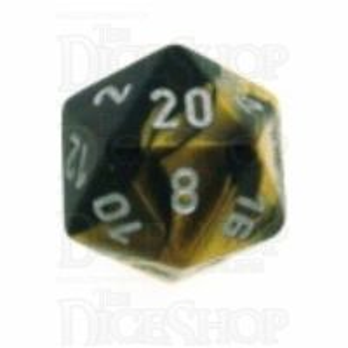 Chessex Gemini Black & Gold D20 Dice