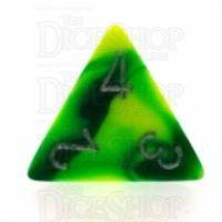 Chessex Gemini Green & Yellow D4 Dice