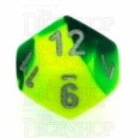 Chessex Gemini Green & Yellow D12 Dice
