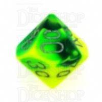 Chessex Gemini Green & Yellow Percentile Dice