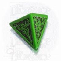 Q Workshop Celtic 3D Green & Black D4 Dice