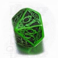 Q Workshop Celtic 3D Green & Black Percentile Dice