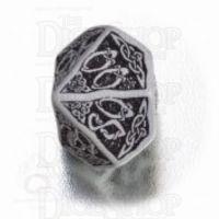 Q Workshop Celtic 3D Grey & Black Percentile Dice