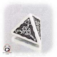 Q Workshop Celtic 3D White & Black D4 Dice