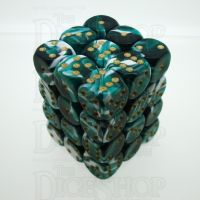 D&G Marble Green & White 36 x D6 Dice Set