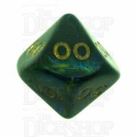 D&G Magma Green Percentile Dice - Discontinued