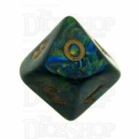 D&G Magma Green D10 Dice - Discontinued