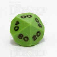 GameScience Opaque Lime & Black Ink Percentile Dice