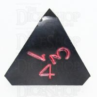 GameScience Opaque Coal Black & Red Ink D4 Dice