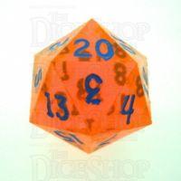 GameScience Gem Fire Sunstone & Blue Ink D20 Dice