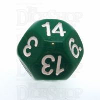 Impact Opaque Green & White D14 Dice