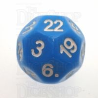 Impact Opaque Light Blue & White D22 Dice