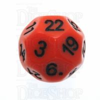 Impact Opaque Orange & Black D22 Dice