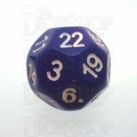 Impact Opaque Purple & White D22 Dice