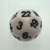 Impact Opaque White & Black D22 Dice