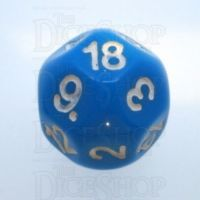Impact Opaque Light Blue & White D18 Dice