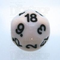 Impact Opaque White & Black D18 Dice