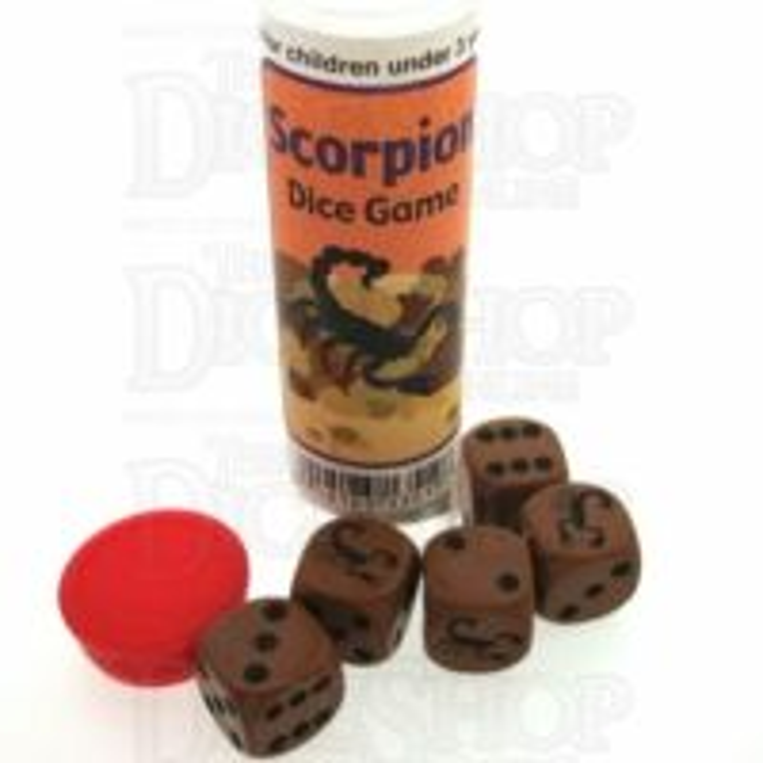 Koplow Brown Scorpion 5 x D6 Spot Dice Game