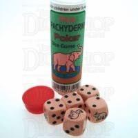 Koplow Pink Elephant Pachyderm 5 x D6 Spot Dice Game