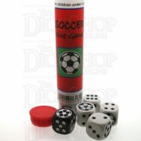 Koplow Soccer Football 5 x 18mm D6 Spot Dice Game