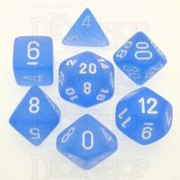 Chessex Frosted Blue & White 7 Dice Polyset