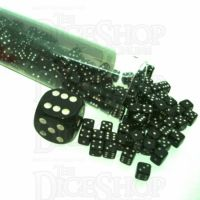 Koplow Opaque Black & White MINI 5mm 200 x D6 Spot Dice Set