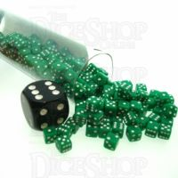 Koplow Opaque Green & White MINI 5mm 200 x D6 Spot Dice Set