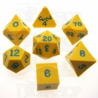 GameScience Opaque Saffron Yellow & Blue Ink 7 Dice Polyset