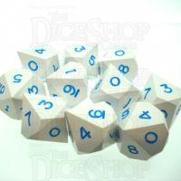 GameScience Opaque Seashell & Blue Ink 10 x D10 Dice Set