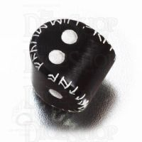 Q Workshop Runic Black & White D2 Spot Dice