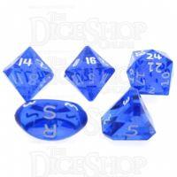 GameScience Gem Sapphire & White Ink Zocchi D3 D5 D14 D16 D24 Dice Set