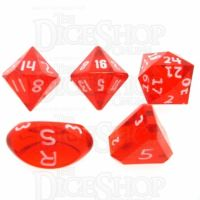 GameScience Gem Ruby & White Ink Zocchi D3 D5 D14 D16 D24 Dice Set