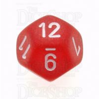 Chessex Frosted Red & White D12 Dice - Discontinued