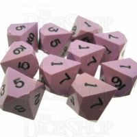 CLEARANCE GameScience Opaque Wisteria & Black Ink 10 x D10 Dice Set - Discontinued