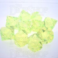 GameScience Gem Laser Yellow Peridot 10 x D10 Dice Set