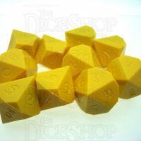 GameScience Opaque Saffron Yellow 10 x D10 Dice Set